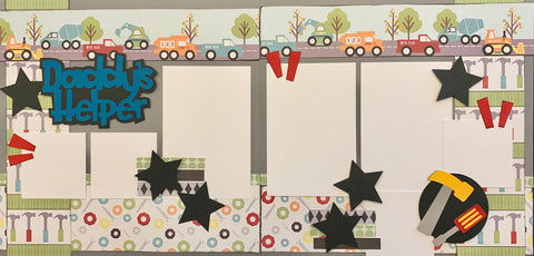 Daddy's Helper - 12x12 Scrapbook Page Kit