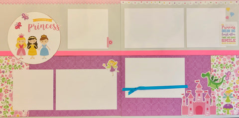 12x12 Premade Layout - you are a Princess (stickers)
