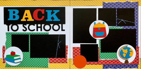 12x12 Premade Layout - Back to School