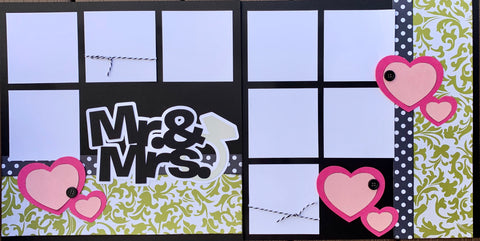 12x12 Premade Layout - Mr. & Mrs.