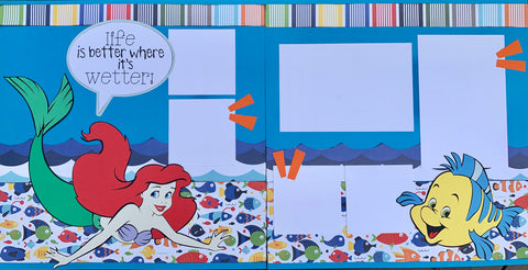 12x12 Premade Layout - Life is better where it's wetter