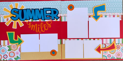 12x12 Premade Layout - Summer Smiles