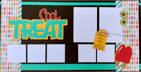 12x12 Premade Layout - Cool Treat