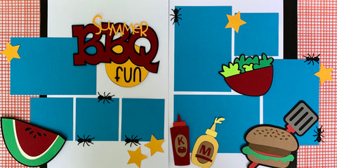 12x12 Premade Layout - Summer BBQ fun