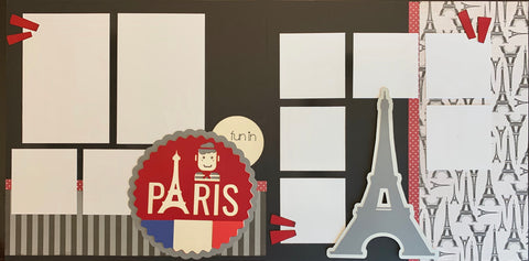 12x12 Premade Layout - fun in PARIS