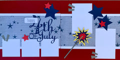 12x12 Premade Layout - Happy 4th of July