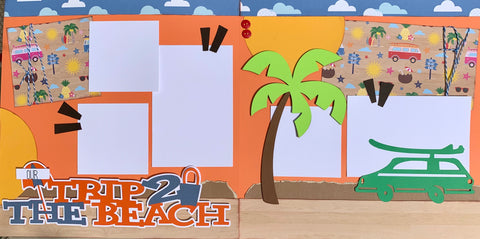 Our Trip 2 the Beach - 12x12 Scrapbook Page Kit
