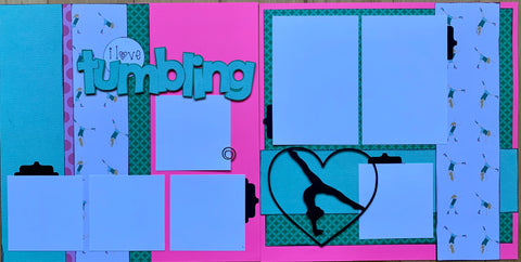 12x12 Premade Layout - I Love tumbling