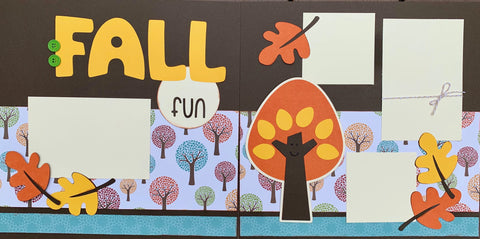 12x12 Premade Layout - Fall Fun