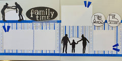 12x12 Premade Layout - Family Time on Ice