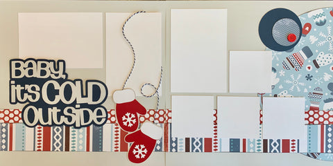 12x12 Premade Layout - Baby it's cold outside