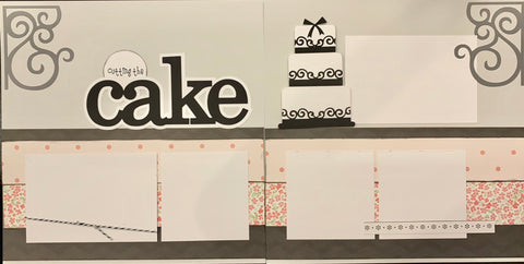 12x12 Premade Layout - Cutting the cake