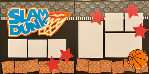 12x12 Premade Layout - Slam Dunk