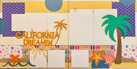 12x12 Premade Layout - California Dreamin'