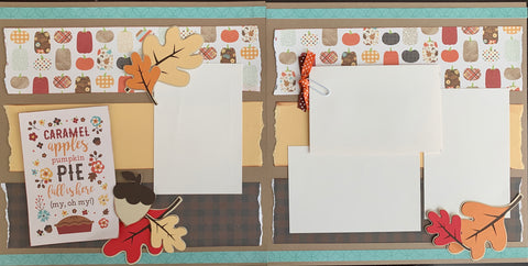 Caramel apples, pumpkin pie, fall is here (my, oh my!) - 12x12 Scrapbook Page Kit