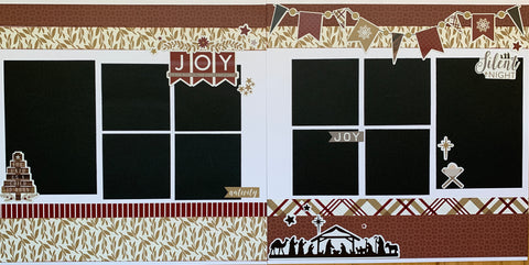 12x12 Premade Layout - Joy to the world (stickers)