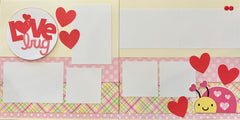 12x12 Premade Layout - Love Bug