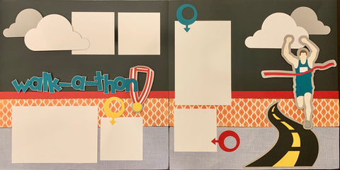 Walk-a-thon- 12x12 Scrapbook Page Kit