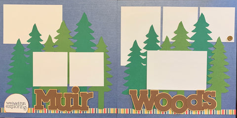 12x12 Premade Layout - We had fun exploring Muir Woods
