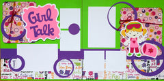 12x12 Premade Layout - Girl Talk