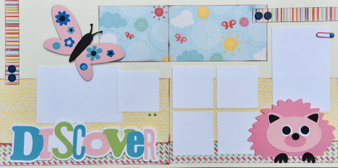 12x12 Premade Layout - Discover