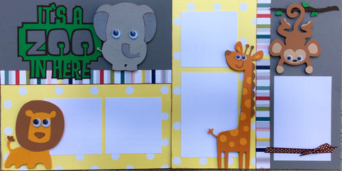 12x12 Premade Layout - It's a Zoo in here!