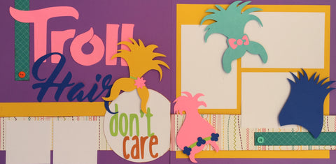 Troll Hair don't care! - 12x12 Scrapbook Page Kit