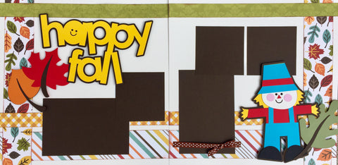 12x12 Premade Layout - Happy Fall