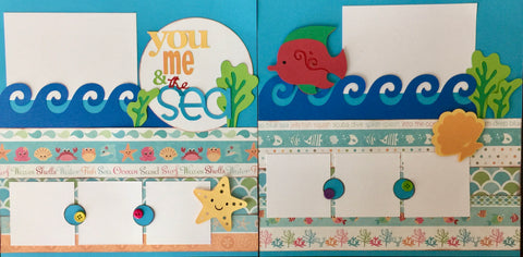 12x12 Premade Layout - You me &  the sea