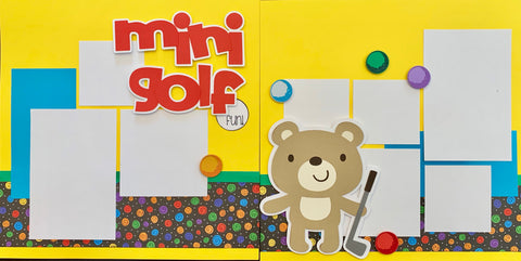 Mini Golf Fun! - 12x12 Scrapbook Page Kit