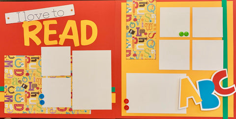 I Love to READ - 12x12 Scrapbook Page Kit