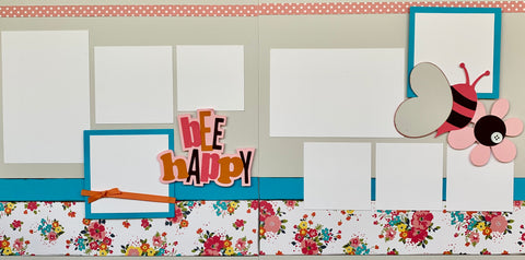 bee happy - 12x12 Scrapbook Page Kit