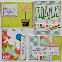 Thank U/thinking of you - Card Kit