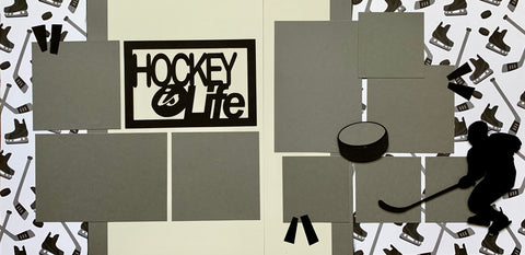 Hockey is Life - 12x12 Scrapbook Page Kit
