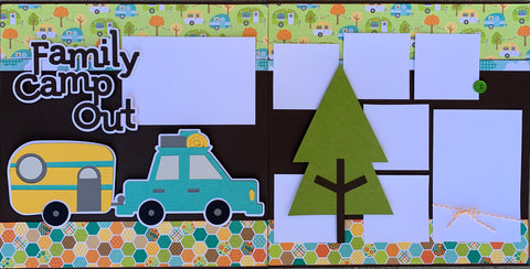 Family Camp Out - 12x12 Scrapbook Page Kit