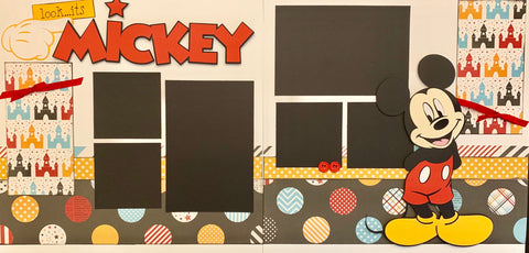 12x12 Premade Layout - Look ... it's Mickey