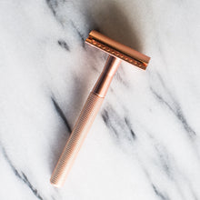 Load image into Gallery viewer, Rose Gold Safety Razor