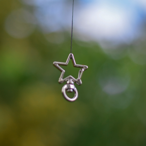 Silver Star Clips for ID Tags and Keyrings