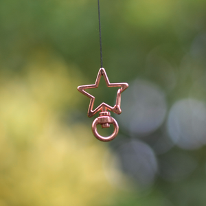 Rose Gold Star Clips for ID Tags and Keyrings