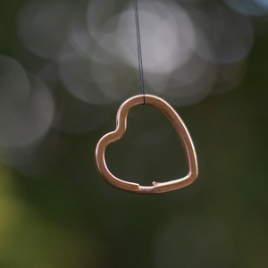 Rose Gold Heart Split Rings for ID Tags and Keyrings