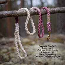 Load image into Gallery viewer, Lavender and Lilac Splatter Effect Soft Cotton Rope Lead