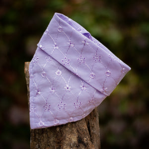 Delicate Bloom Broderie Anglaise Cotton Bandana