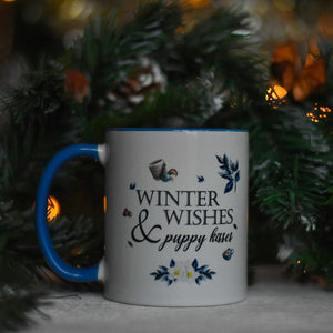 Winter Wishes and Puppy Kisses Mug