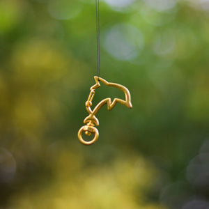 Gold Dolphin Clips for ID Tags and Keyrings