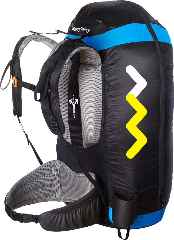 Wani Light - Reversible harness for Hike and fly.
