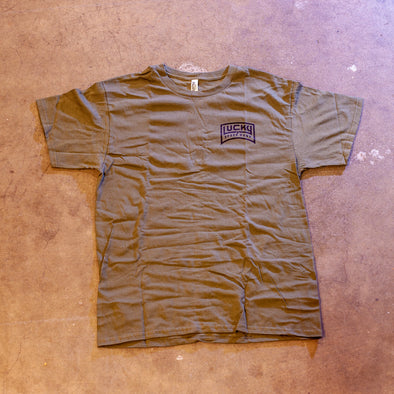 BURNOUT TEE: ARMY GREEN