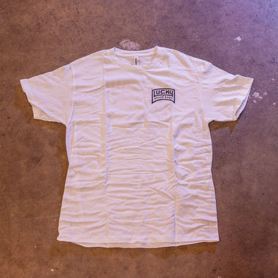 BURNOUT TEE: WHITE