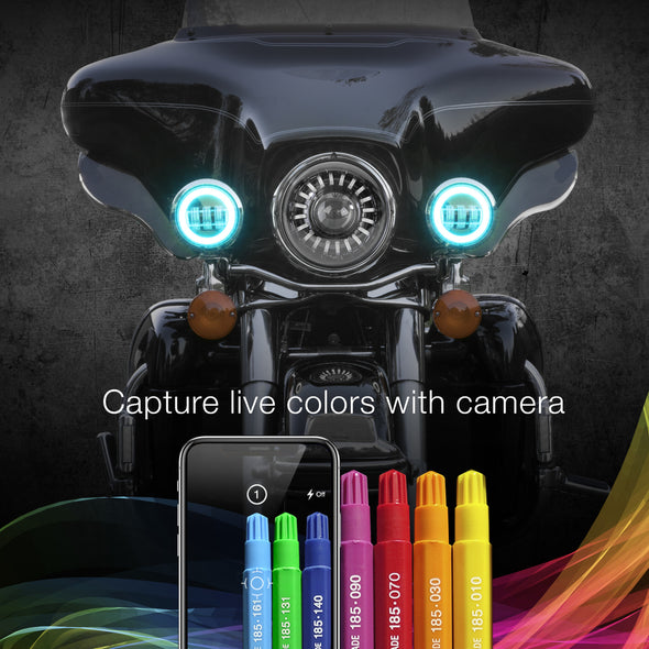 "4.5"" DRIVING LIGHTS (RGB LED ADJUSTABLE COLOR ACCENT HALO SURROUND)"