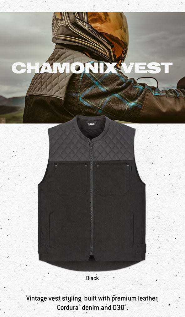 ICON Chamonix Denim Vest