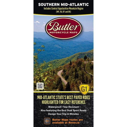Butler Motorcycle Maps (SOUTHERN MID-ATLANTIC)